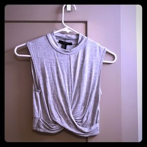 Grey crop top forever 21
